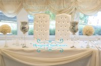 Luxury throne chairs for sweetheart table