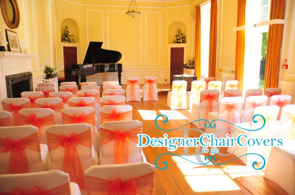 orange sashes chair covers