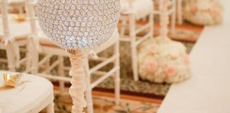 crystal globe centrepiece flower