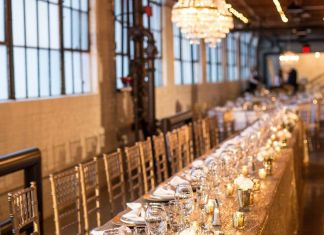 Gold sequin table cloth hire