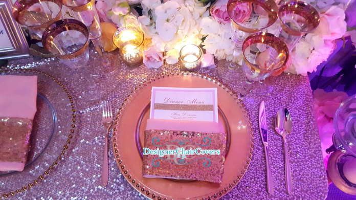 sequin wedding table