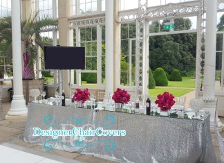 Mirror Table Tops Wedding