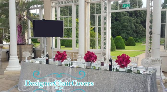 Mirror Table Tops Wedding