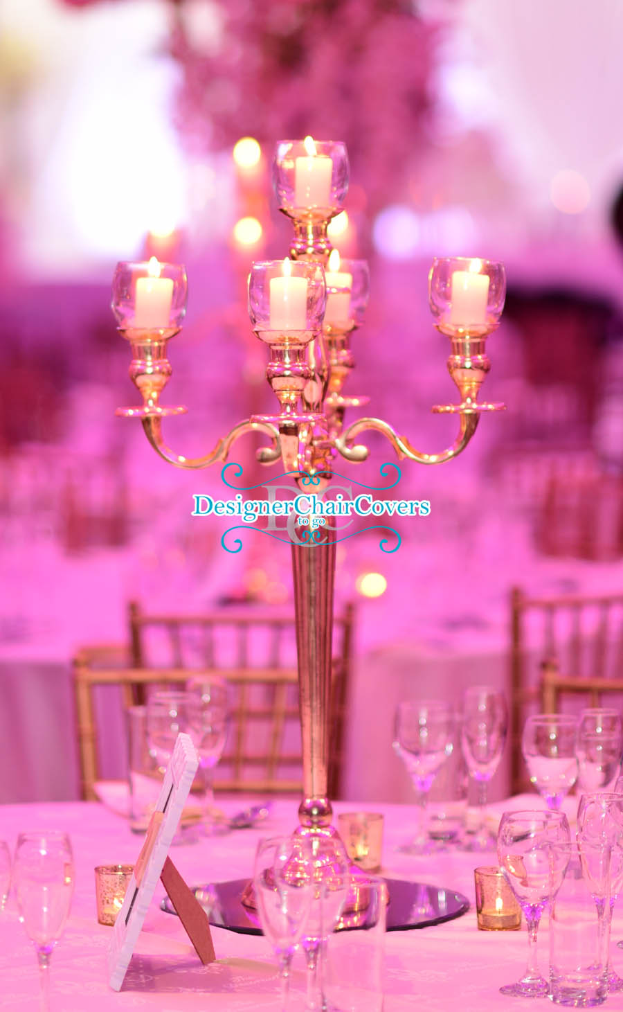gold candelabra
