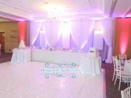 luxury wedding head table