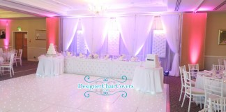 luxury wedding head table