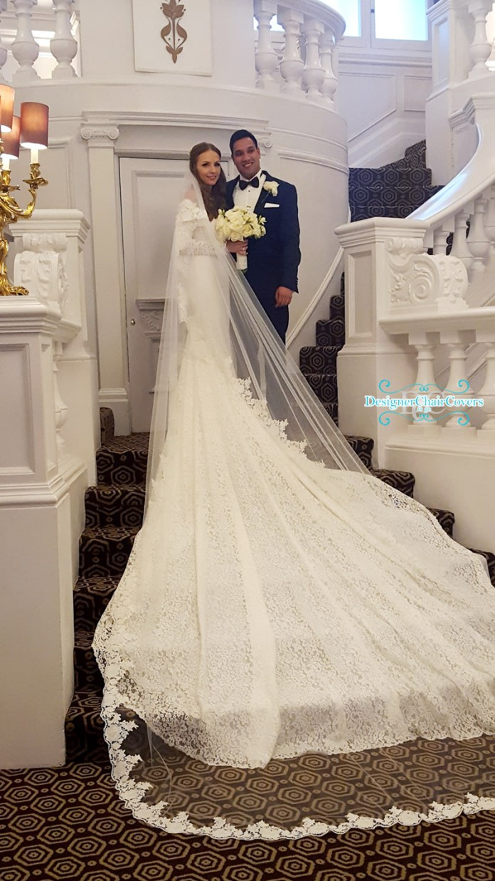 luxury lace wedding dress