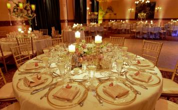 gold rim plates