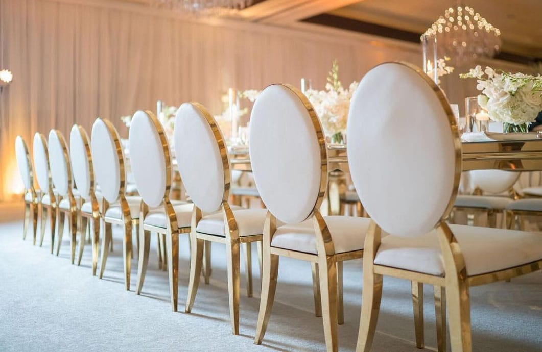 events by designer chair covers indoor rocking gold rim arabella chairs to go chiars wedding
