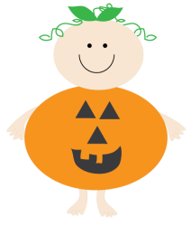 pumpkin clip baby clipart halloween pumpkins ghost shower cliparts ghosts spiders oh library web designerclipart