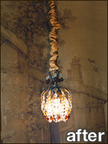 Our Chandelier Chain Cover Is Adjule For Smaller Fixtures And Ceiling Fan Poles