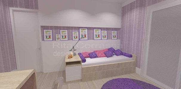 dormitório de menina com decoracao delicada