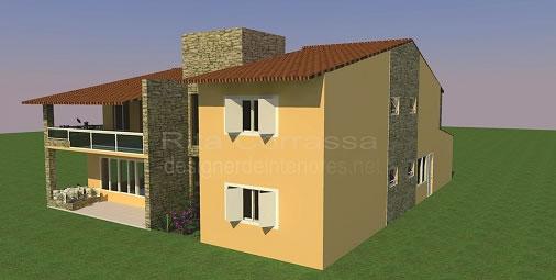 Projeto residencial de fachada
