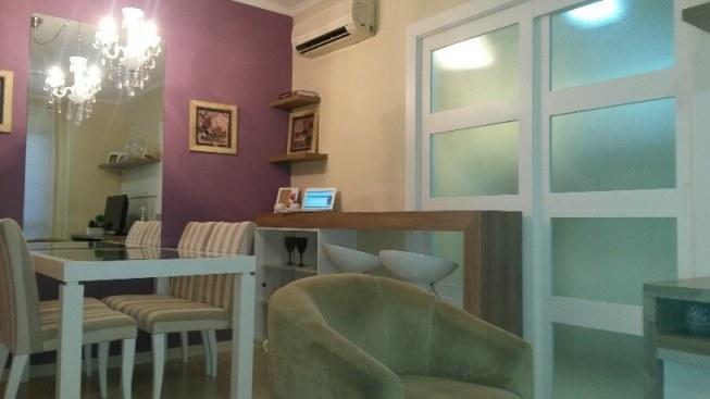 Foto sala de jantar e divisória cozinha