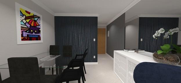 Projeto e decoração da sala de jantar