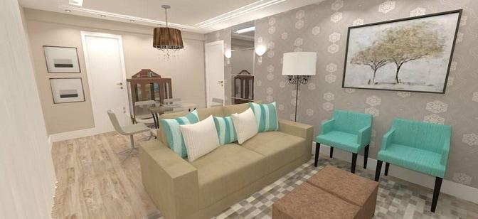 Projeto de sala de estar e jantar personalizado