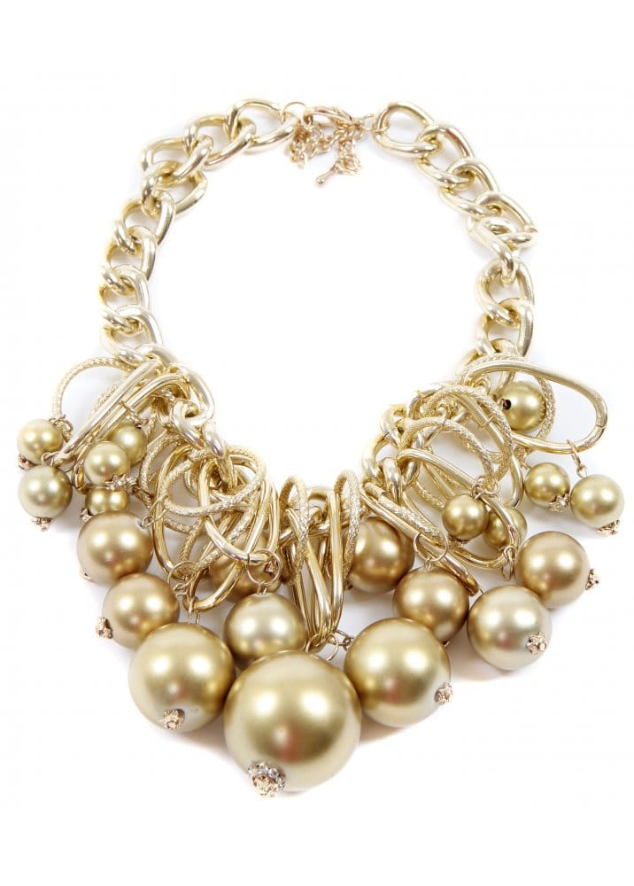 Fashion Necklace  Chunky Gold Statement Necklace  Gold
