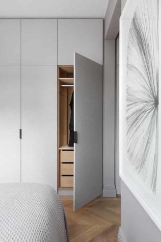 dressing minimaliste et épuré aménagement
