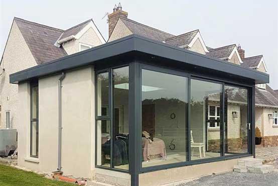 triple track patio doors designer