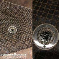"""4"""" Round Shower Drain Cover Replacement   Oceanus Caretta"""