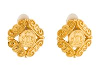 FENDI Vintage Gold Logo Clip on earrings