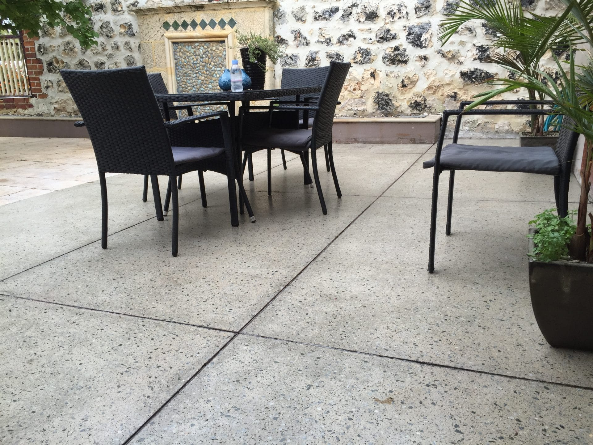 use polished concrete in your outdoors