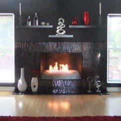 Kitchen Designer Cobalt Blue Accessories Mosaic Fireplace Surround In Red & Silver