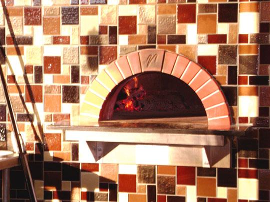Custom Glass Tiles Panels and Walls for Italian Restaurant  Designer Glass Mosaics