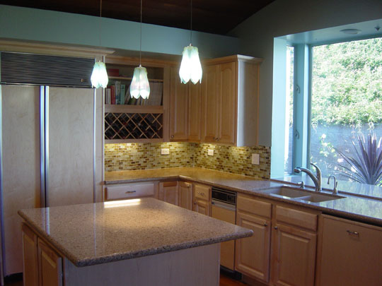 Beach Theme Kitchen Backsplash  Designer Glass Mosaics