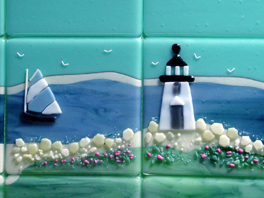 beach themed living rooms ideas storage room fused glass tiles (nantucket) | designer ...