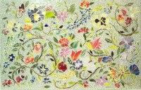 Floral Mosaic Kitchen Backsplash | Designer Glass Mosaics