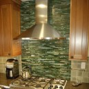 Fused Bamboo Backsplash