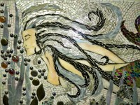 Stained Glass Mosaic Mermaid Mural for Master Bath ...