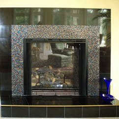 Glass Tiles For Kitchen Backsplashes Mobile Kitchens Sale Artistic Mosaic And Fused To Cover A Fireplace ...