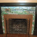 """English Cottage"" Mosaic Fireplace Surround"