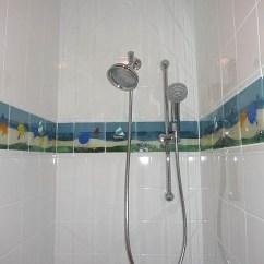 Backsplash Panels For Kitchen Personalized Towels Beach Theme Glass Tile Border   Designer Mosaics