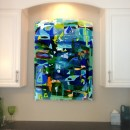 Colorful Fused Glass Wall Art Panel
