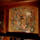 Glass Mosaic Mural for Wine Cellar