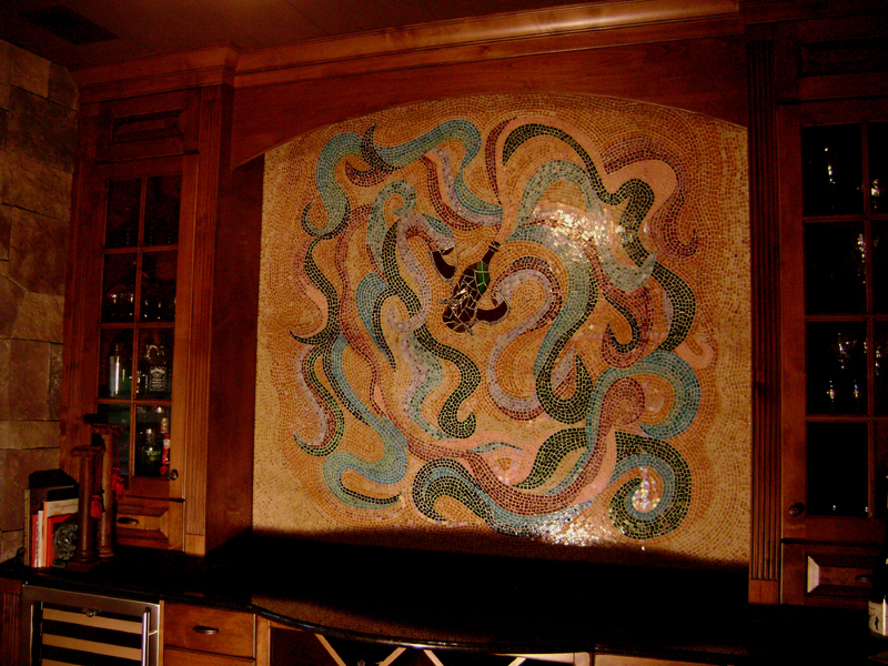 kitchen tile murals apple rugs for glass and panels (fused mosaic ...