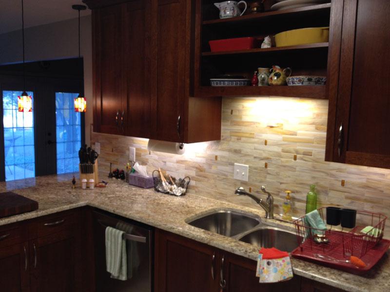 kitchen cabinet color on a budget stained glass tile backsplash | designer mosaics