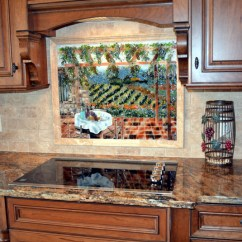 Glass Tiles For Kitchen Backsplash Macy's Appliances Sale Italian Vineyard Theme Fused ...