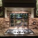 Backlit Kitchen Lake Scene