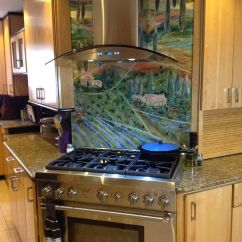 Glass Kitchen Cabinet Knobs Wall Faucet Tuscan Mural For | Designer Mosaics