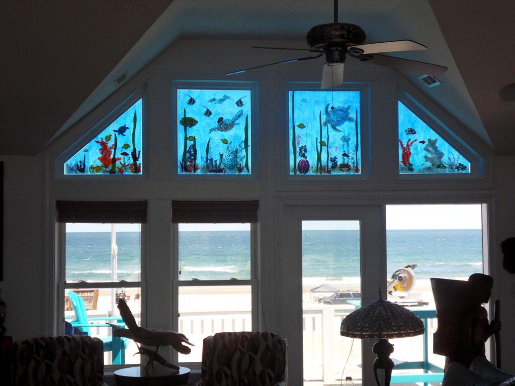 Nautical Glass Transom Windows  Designer Glass Mosaics