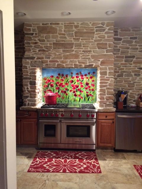 hgtv contemporary living rooms small room ideas uk red poppy kitchen backsplash | designer glass mosaics