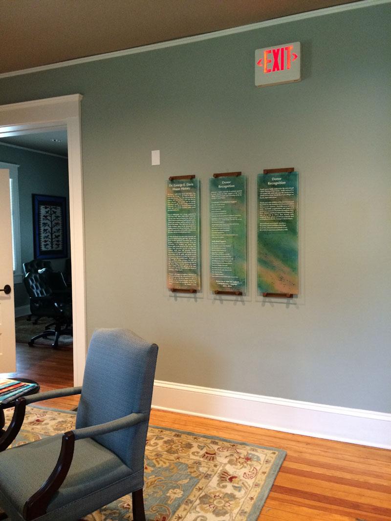 Glass Donor Recognition Panels  Designer Glass Mosaics