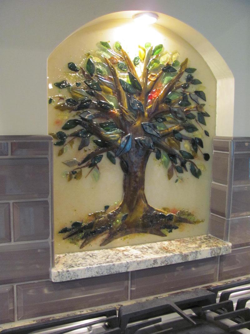 Tree Of Life Kitchen Backsplash Designer Glass Mosaics