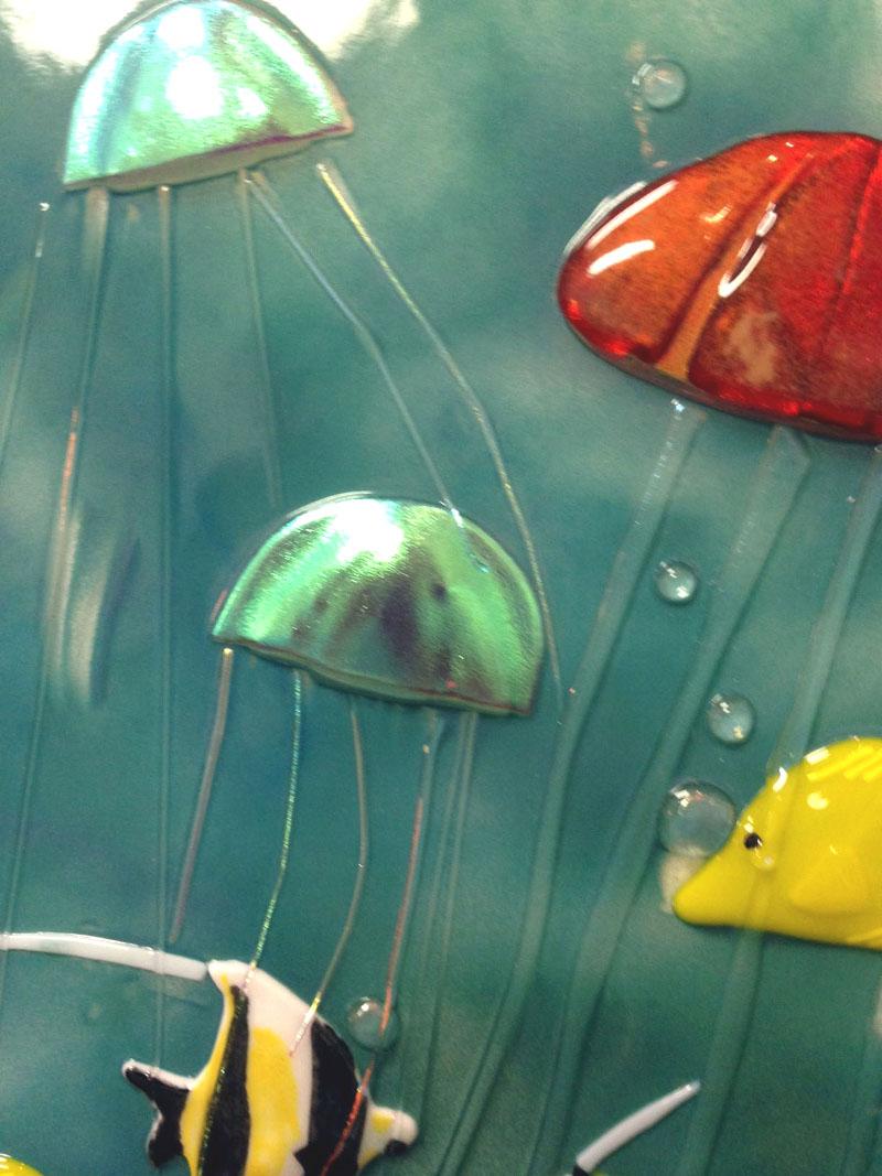 Glass Underwater Sealife Mural  Designer Glass Mosaics