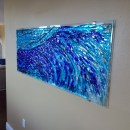 """Fused Glass """"Wave"""" Mural"""