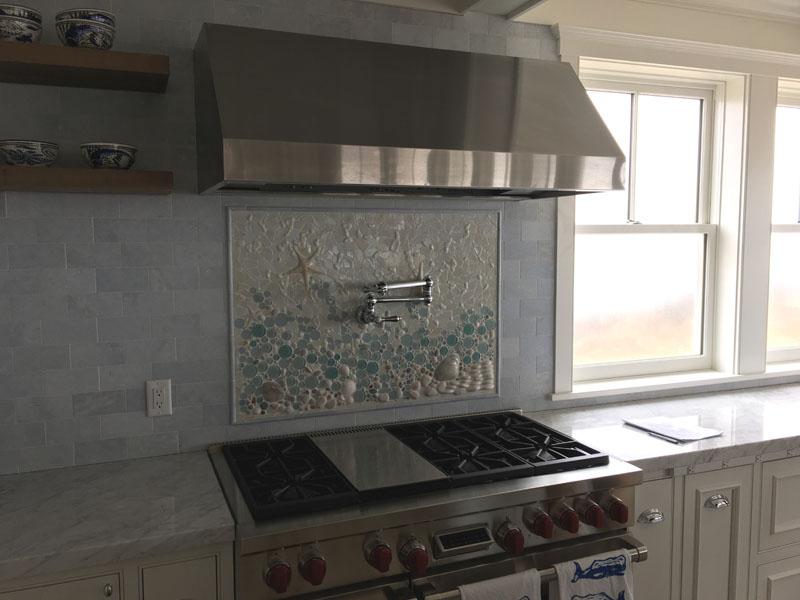 Mosaic Beach Backsplash Designer Glass Mosaics